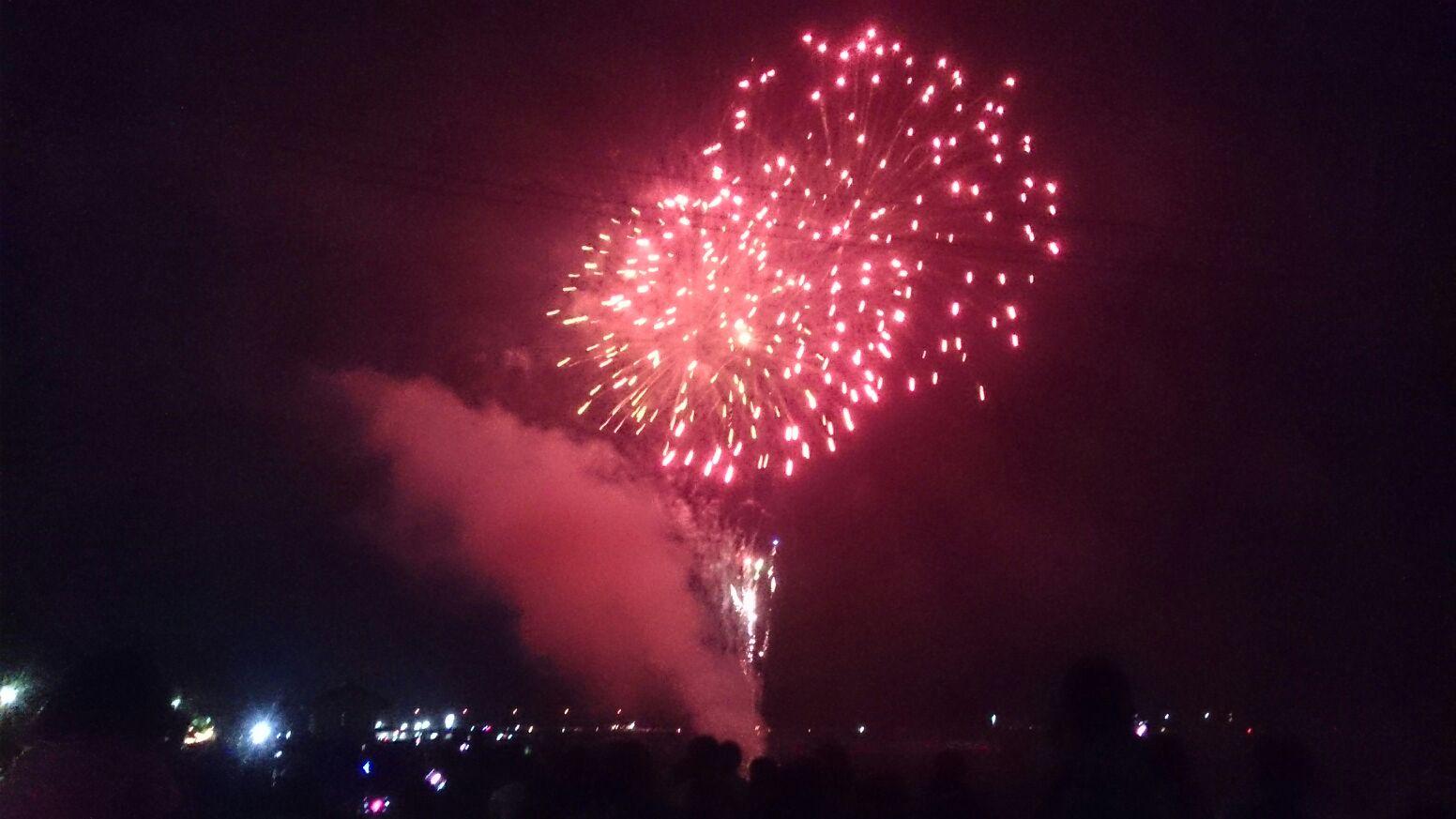 傘鉾からの宮崎からの花火